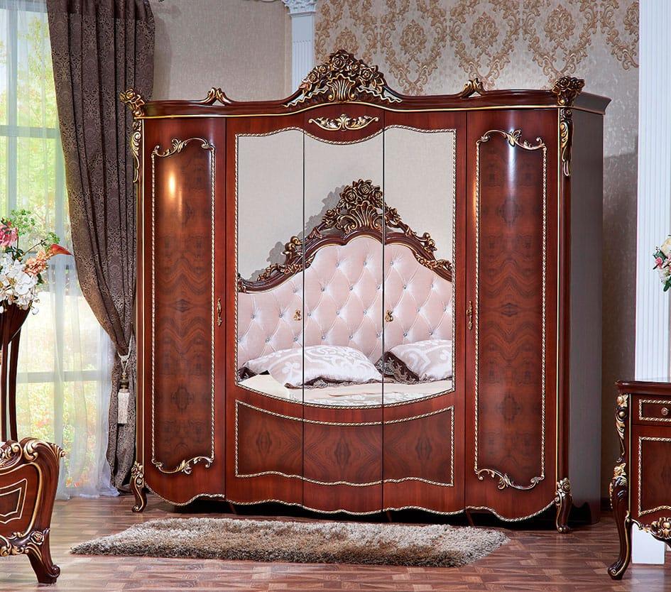 Кровать Marcella белая/золото